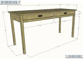 Desk Plans Diy Diy Writer S Desk