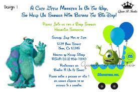 monster invitation monster inc baby shower invitations afoodaffair me