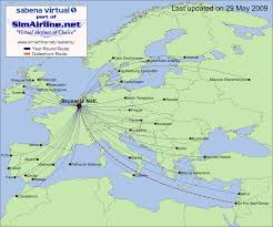 Air Berlin Route Map by Sabena Virtual Destinations