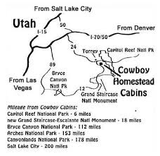 map salt lake city to denver cowboy homestead cabins our capitol reef location