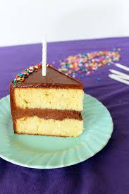 birthday cake with fluffy chocolate ganache frosting