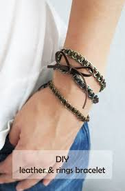 make leather cord bracelet images Diy leather rings bracelet ohoh blog jpg