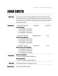 chronological resume format example