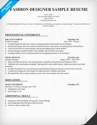 designer resume sle fashion designer resume format compareplans us