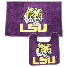 amazon com lsu tigers 2 piece bath rug set home u0026 kitchen