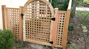 lattice custom gate and fence using 1 western red cedar by