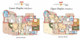 5 bhk 5335 sq ft penthouse for sale in pearls gateway tower at 5 bhk 5335 sq ft penthouse floor plan