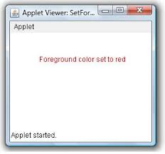 set foreground color of an applet window example java examples