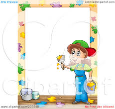 Royalty Free Rf Clipart Illustration Of A Painter Border Frame