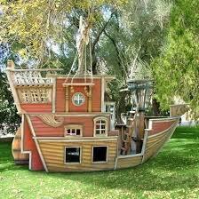 Pirate Ship Play House Design Adding Fun To Kids Backyard Ideas - Backyard designs for kids