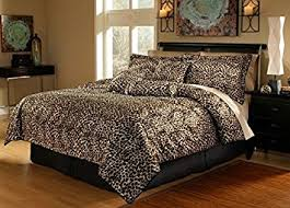 Cheetah Twin Comforter Amazon Com 5 Piece Twin Leopard Animal Kingdom Bedding Comforter