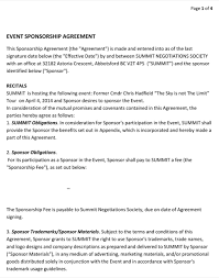 doc 585340 event agreement template u2013 event contract template 18