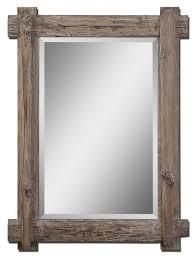 bathroom solid wood mirror frame for bathroom rustic design