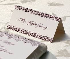 digital printing guest names wedding place card letterpress