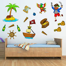 pirates theme bedrooms junior rooms mirrorin pirate wall stickers pack