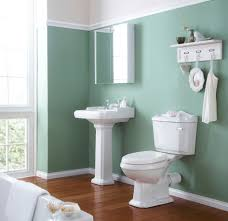 Gray Wall Paint Mirror Without Frame Washbasin Granite Countertop