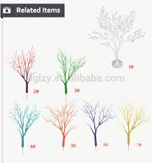 high quality artificial pu decoration white branch tree wedding