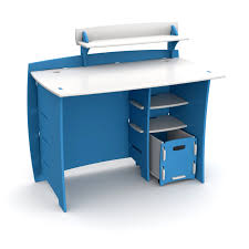 Desk For Kid Legare 43 In Desk With Shelf And File Cart Blue And White