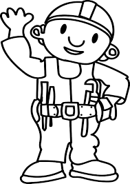 bob the builder hello coloring page wecoloringpage