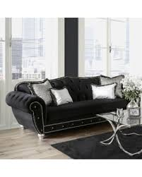 tufted velvet sofa boo tiful sales on furniture of america renee formal premium black