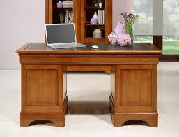 bureau merisier bureau ministre 9 tiroirs en merisier massif de style louis philippe