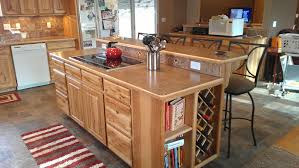 hickory kitchen island kitchens remodeled spokane contractor