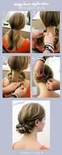 dirty hair style idea braided bun bad hair super easy and layering