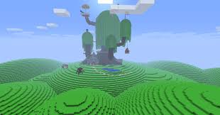 My friend did the tree house from Adventure Time  Minecraft