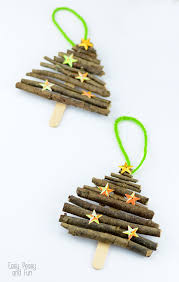 popsicle stick and twigs tree ornaments twig
