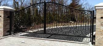 ornamental driveway gate stamford iron steel works inc