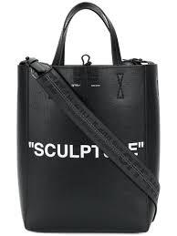 lyst off white c o virgil abloh sculpture tote bag in black