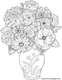 flower difficult coloring pages printable