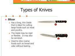 knives parts of a knife a point b tip c blade d back ppt