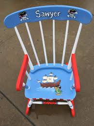 Kid Rocking Chair Pirate Rocking Chair Kids Personalized Rockers Hand Painted