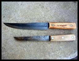 xx kitchen knives vintage hickory ontario knife co tru edge usa and xx