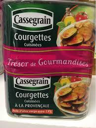 courgettes cuisin s courgettes cuisinees provencale cassegrain boites 2x1 2