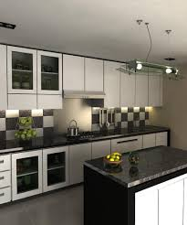 semi modern kitchen kitchen natural stone tile black and white rocks irregular semi