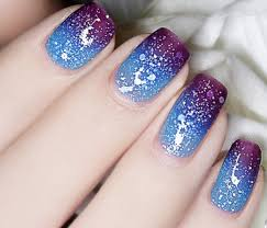thermal color changing nail polish dark purple to blue 23810