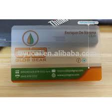 Translucent Plastic Business Cards 0 38mm Thickness Transparent Plastic Business Card Hight Quality