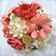 paper flower bouquet paper flower bouquets handmade wedding emmaline