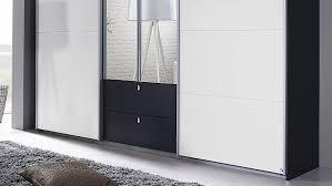 Schlafzimmerschrank Grau Kombino Kleiderschrank In Grau Weiß Spiegel 226