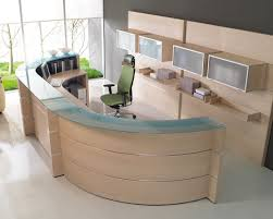 Round Reception Desk by Ergonomic Reception Area Interior Design For Professional Office