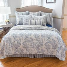 Blue And White Comforter French Toile Bedding Ebay