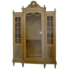 Painted Armoire Furniture Louis Xvi Style Painted Armoire With Glass Door For Sale At 1stdibs