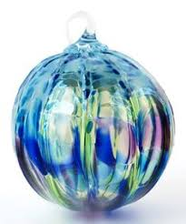 130l glass eye studio ornament peridot august pistachios