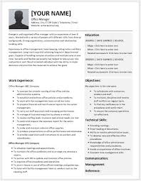 Office Manager Resume Example by Office Manager Resume Contents Layouts U0026 Templates Resume Templates