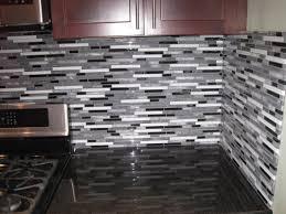 Kitchen With Glass Tile Backsplash U Shape White Kitchen Decoration With Light Gray Subway Kitchen