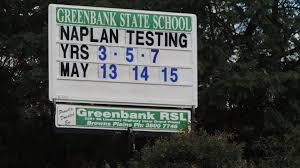 Mount Lindesay Highway Wikipedia File Sign Announcing Naplan Tests Greenbank State 2014