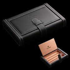 cigar gift set luxury cohiba hold 4pcs portable leather cigar bag cigar humidor