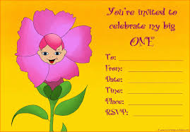 Invitation Card Maker Free 20 Cute 1st Birthday Invitations Free Printable And Original
